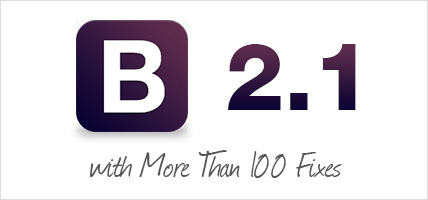 Bootstrap 2.1.0 released